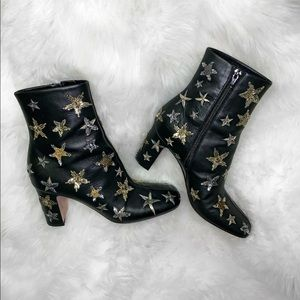 Valentino Black Star Embellished Boots/Booties